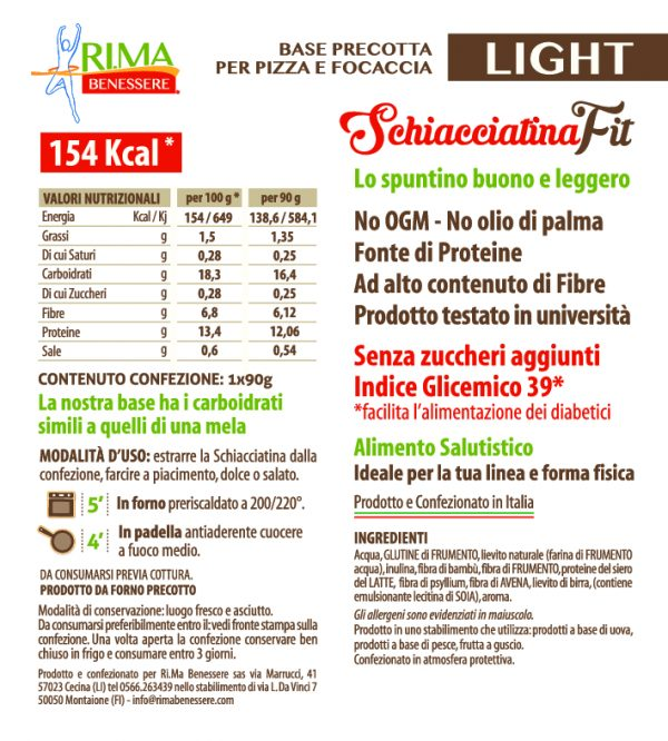 ETICHETTA-SCHIACCIATINA-FIT-LIGHT-Valori nutrizionali